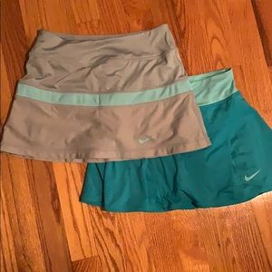 2 Nike Dry Fit Blue Tennis Skirts